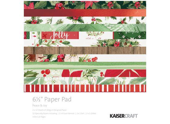 Add On Oktober - KaiserCraft Peace & Joy 6x6 Blok