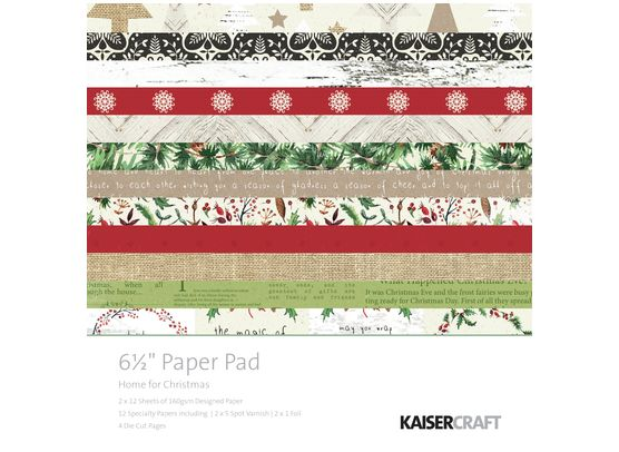 Add On Oktober - KaiserCraft Home for Christmas 6x6 Blok