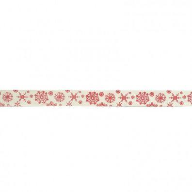 Add On Oktober - Ekstra Rødt Snefnug bånd - 1 m.