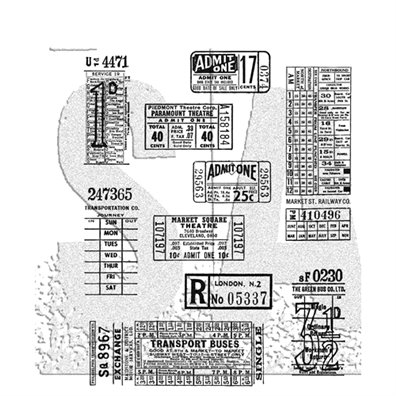 Tim Holtz Cling Stamp - Ticket Booth