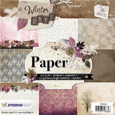 Studio Light 6x6 Paper Pad - Winter Days