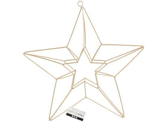 Metalophæng - Messing stjerne