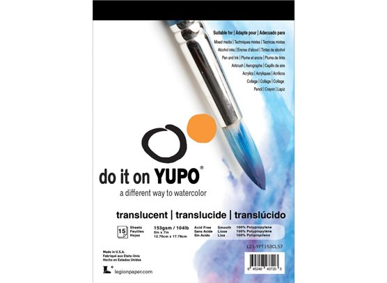 "Yupo Paper 5""x7"" - Translucent 104lb - 15 stk"