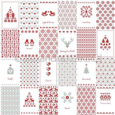 "Red Christmas - Christmas Cut-Aparts 2""x3"" - Mønsterpapir fra Alexandra Renke"
