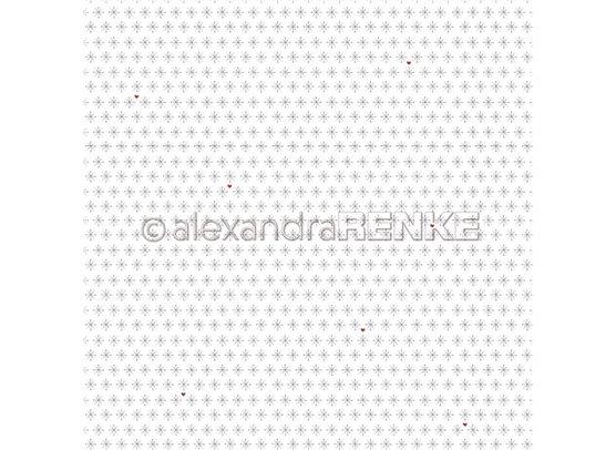 Lena's Christmas - Snowflake With Heart - Mønsterpapir fra Alexandra Renke