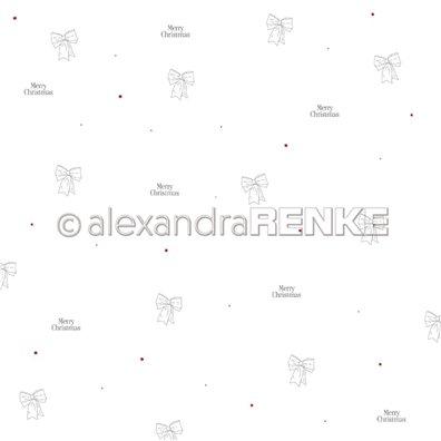 Lena's Christmas - Ribbons - Mønsterpapir fra Alexandra Renke