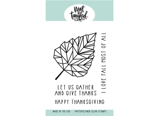 Neat & Tangled Clear Stamp - Birch Leaf
