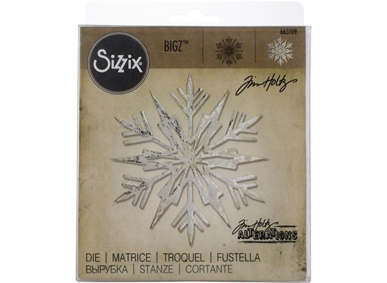 Tim Holtz Sizzix Bigz Die - Ice Flake