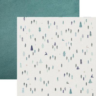 Wonderland - Snowscene mønsterpapir fra KaiserCraft
