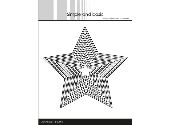 Simple and basic dies - Double Pierced Star
