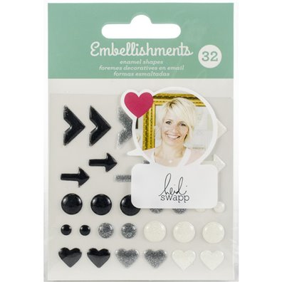 Add on Januar kit - Heidi Swapp Embellishments - Enamel Shapes