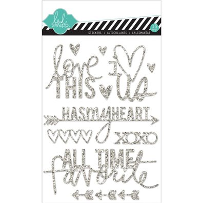 Add on Januar kit - Heidi Swapp Silver Glitter Stickers