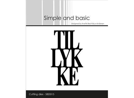 Simple and Basic Dies - Tillykke