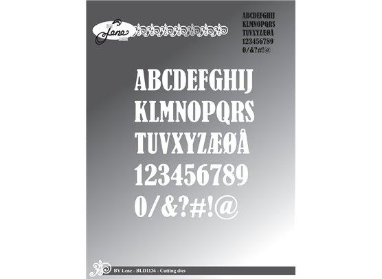 By Lene Dies - Store bogstaver, tal og symboler