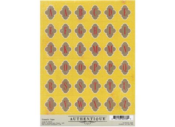 Splendid Classic Type stickers fra Authentique