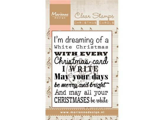 Marianne Design Clear Stamp Christmas Carol