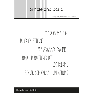 Simple and Basic Stempler - Papirkys fra Mig