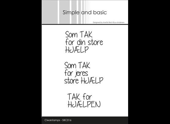 Simple and Basic Stempler - Som Tak for din store hjælp