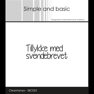 Simple and Basic Stempler - Tillykke med Svendebrevet