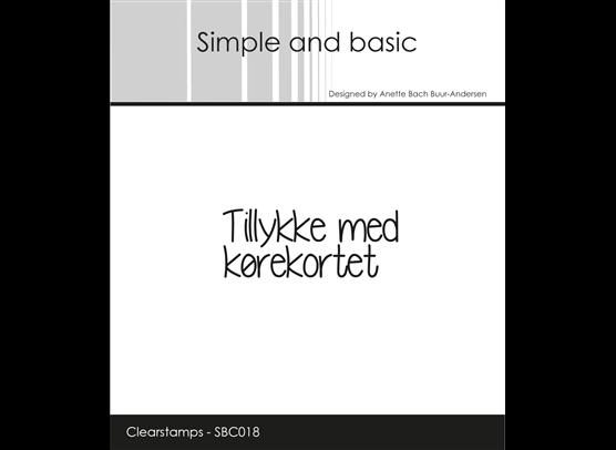Simple and Basic Stempler - Tillykke med Kørekortet