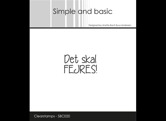 Simple and Basic Stempler - Det skal fejres