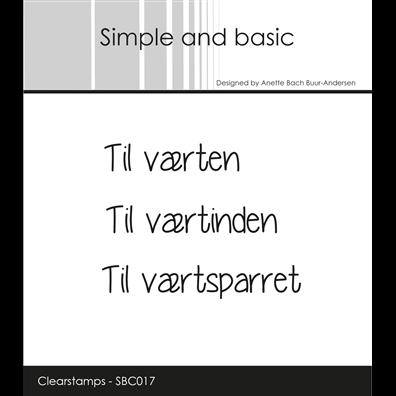 Simple and Basic Stempler - Til Værten