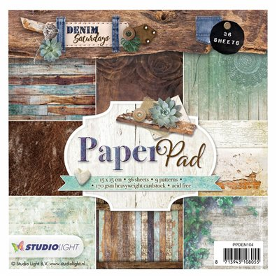 Studiolight Denim Saturdays Mint Paperpad 6x6