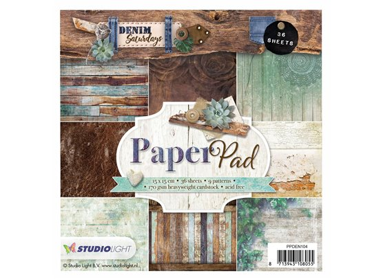 Studiolight Denim Saturdays Mint Paperpad 6x6