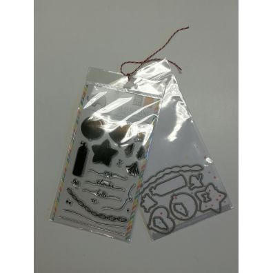 Mama Elephant Party Kit stempel og dies sampak