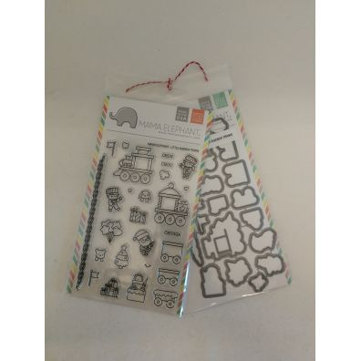 Mama Elephant Little Agenda Trains stempel og dies sampak