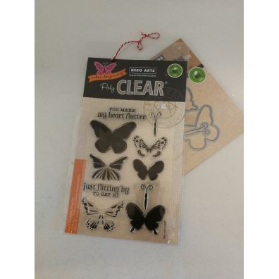 Hero Arts Color Layering Butterflies stempel og dies sampak