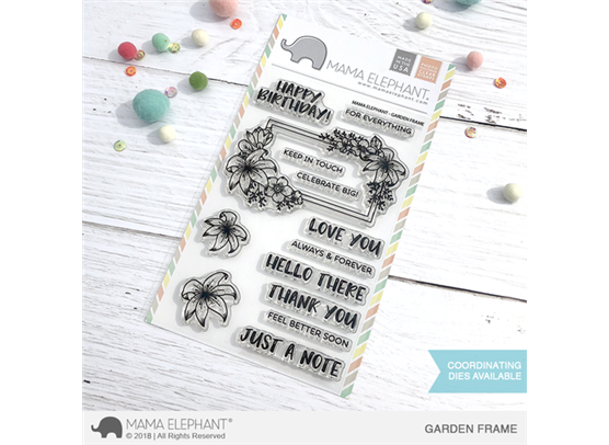 Mama Elephant Clear Stamps - Garden Frame
