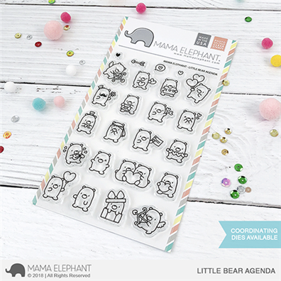 Mama Elephant Clear Stamps - Little Bear Agenda