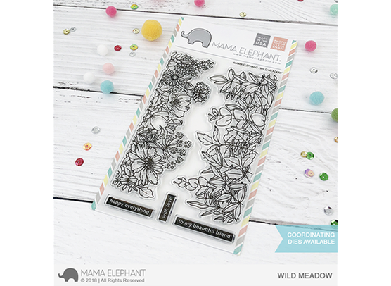 Mama Elephant Clear Stamps - Wild Meadow