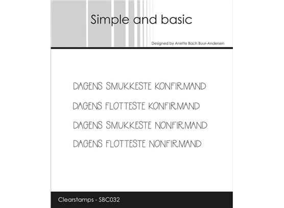 Simple and Basic stempler - Dagens smukkeste konfirmand