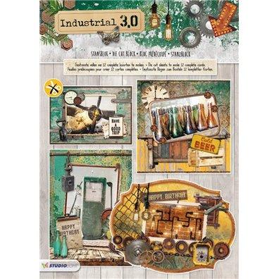 Studio Light Udstanset Blok A4 - Industrial 3.0