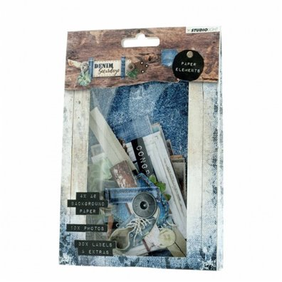 Denim Saturdays Paper Elements fra Studio Light