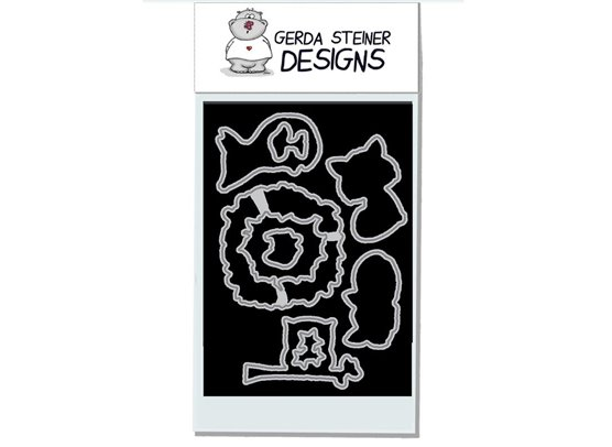 Gerda Steiner Designs Foxes stempel og dies sampak
