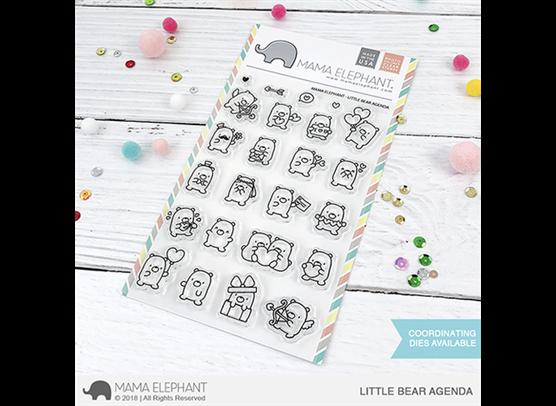 Mama Elephant Little Bear Agenda stempel og dies sampak