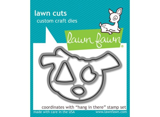 Lawn Fawn Hang In There stempel og dies sampak