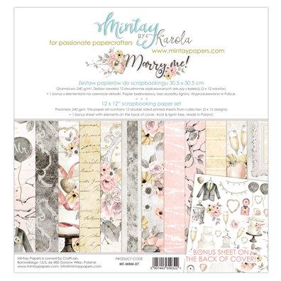 Mintay By Karola Marry Me 12x12 Paper Set