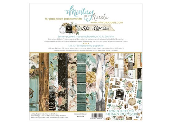 Mintay By Karola Life Stories 12x12 Paper Set