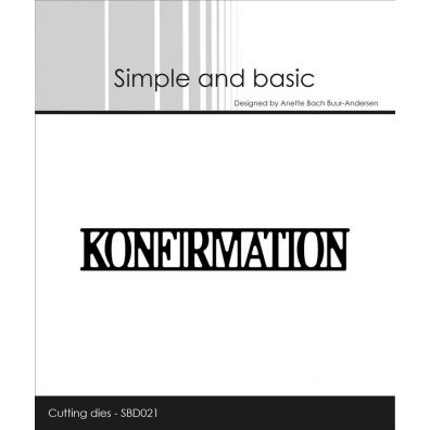 Simple and basic dies - Konfirmation