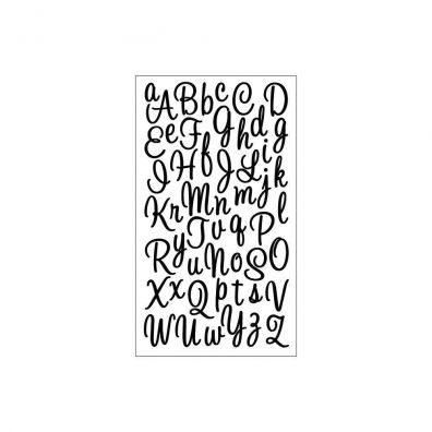 Sticko Sweetheart Black Glitter Alphabet