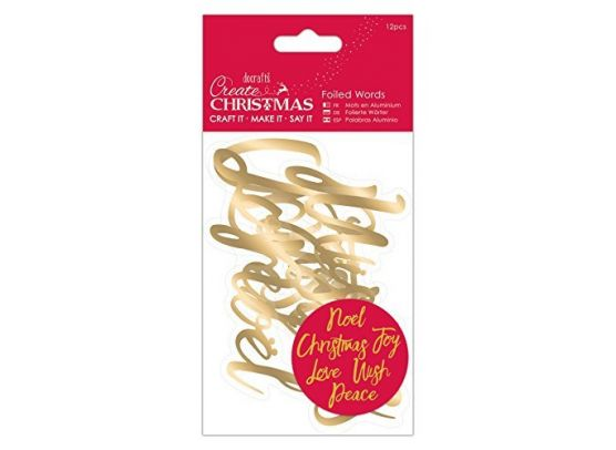 Docrafts Create Christmas Foiled Words