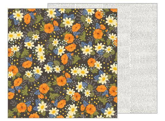 Simple Life - Wildflowers - Mønsterpapir fra Pebbles