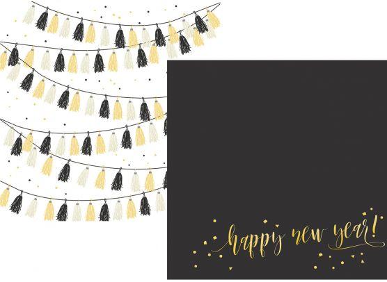 2018 - Hello New Years - Mønsterpapir fra Simple Stories