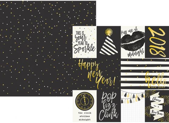 2018 - 3x4 & 4x6 Jornaling Card Elements  - Mønsterpapir fra Simple Stories