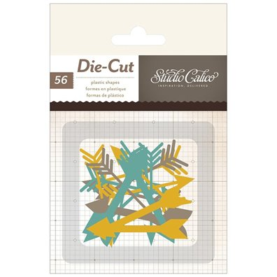 Embellishments - SC - Thataway - 56 pc. - Plastic Die Cut Thin A