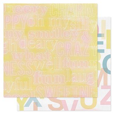 Color Wash Mønsterpapir - Color Wheel - Pink Paislee